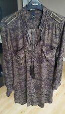 H&M Marron Robe Tunique/de plage Cover Up * Taille EUR 42 UK 14 *
