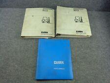 Oem Factory Clark C500 Y 355 Forklift Service Repair Manual Set Amp Parts Book