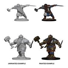 D&D Nolzur's Marvelous Unpainted Miniatures 2x Dwarf Male Fighter [New & Sealed]