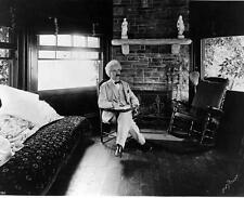 Old Photo.  Mark Twain in chair