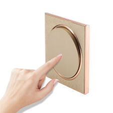 Crystal Glass Panel Light Touch Screen Wall Switch LED Lamp 1 Gang 1 Way Gold