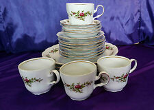 Johann Haviland Traditions Moss Rose 4 Place Settings Plate Bowl Cup Saucer