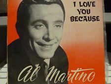 "AL MARTINO""I love you because (EP) 4 Great Songs""Rare Australian 7""45rpm Record"