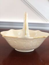 Lenox Porcelain Basket w/Handle Candy Dish With Gold Trim Vintage