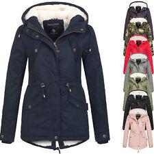 Marikoo Jacke Damen Winter Parka Baumwoll Mantel Winterjacke warm Teddyfell MNLY