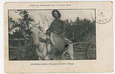 Deer Hunter UVALDE TX Hunting Rifle Horse—Rare Antique (Damaged) 1908