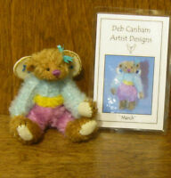 "DEB CANHAM Artist Designs MARCH FAIRY, Fairy Coll. 3.75""  LE  mohair"