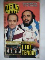 Telesette 1994 Carreras Domingo Pavarotti Chiklis Bauer Barbarossa Willis Mehta