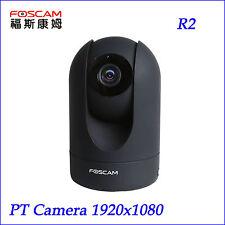 Foscam 1080P 2MP R2 Pan Tilt Zoom Wireless Security Surveillance IP Camera Black