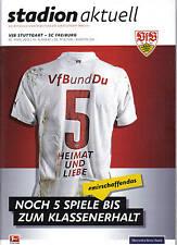 Programm Stadionheft 14/15 VfB Stuttgart SC Freiburg 25.4.2015 Aktuell Stadion