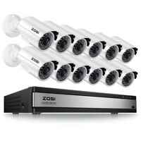 ZOSI 16CH  HDMI DVR IR Night Vision 1080P Camera Outdoor CCTV Security System
