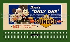 Billboard  for Lionel Holder Sunoco Gas Mickey and Minnie Theres Only One