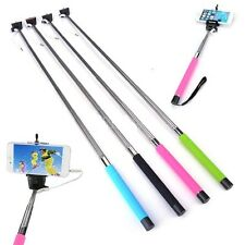 Extendable Wired Monopod Selfie Stick Only For iPhone Samsung HTC Nokia Lumia
