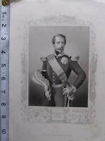 C1850 Antiguo Estampado ~ Napoleon III Emperador Del Francesa