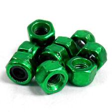hy00003g M3 3mm nailon Aleación Nailon Tuercas De Fijación x 10 Verde