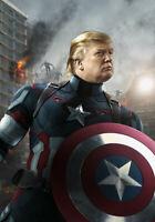 Capt. America Pro Trump 2020 Anti Hillary Funny Sticker Pro USA NEW size 3x4 in.