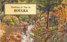 Houlka Mississippi Thinking Of You In scenic view linen antique pc Z23344