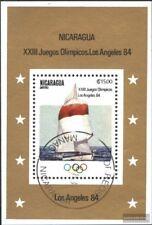 Nicaragua Block147 (kompl.Ausg.) gestempelt 1983 Olymp. Sommerspiele ´84, L.A.