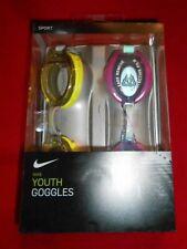 Nib New Nike Youth Swimming Goggle Set - 2 Pair - Boy/Girl Training Anti-Fog S94