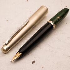 PLATINUM 1980 Pocket Silver Cap & Green Urushi 14K Gold EF Nib Fountain Pen