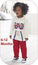 Âge 6-12 mois bébé fille 2 pièces Set BNWT par Lily & Jack Panda haut & bas
