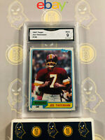 1981 Topps Joe Theismann #165 - 9 MINT GMA Graded Football Card