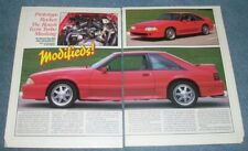 1987 Roush Twin Turbo Ford Mustang Vintage Article Prototype Rocket