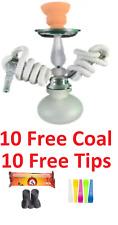 Portable Pumpkin Hookah Shisha 2 Hose Glass Vase Set W/ Free 10 Tips & 10 Coal