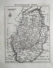 Nottinghamshire, John Roque, Angleterre affichées, antique County Carte 1769