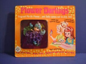 SCARCE / RARE Vintage Hasbro Flower Darlings VIOLET DARLINGS # 8571 Mint On Card