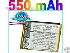 Fit SanDisk Sansa Fuze 4GB, Fuze 8GB battery (550 mAh)