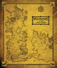 Game Of Thrones Map Westeros & the Free Cities 1 Piece Glossy Poster Art Print!