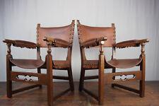 Sessel Clubsessel Leder Vintage 60er Easy Lounge Chair Mid-Century Danish 1/2