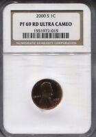 2002 S NGC PF 69 RD ULTRA CAMEO PENNY