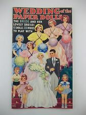 Vintage Merrill 1935 Wedding Bride Dresses Cut Out Paper Doll Book Reproduction