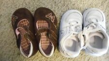 Lot of 2 pair Girls size 4 toddler shoes  GUC