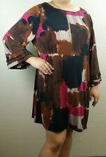 NEW NWT $65 WOMEN'S 3XL FRINGE ALFANI BLOUSE PURPLE BLACK COLORFUL KNEE PINK