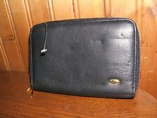 Capezio Black Leather Ladies Double Zip Top Opening Wallet (NWD)