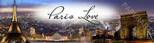 "Personalized Paris Night View Banner Poster Home Decor Arts 8.5"" x 30"" - Glossy"