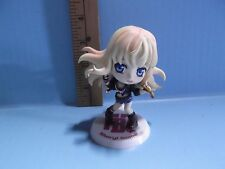 "Macross Frontier Sheryl Nome 3.5""in Dressed in Black Jacket & Blue Short Shorts"