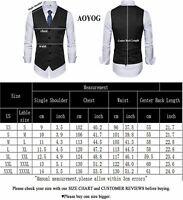 Mens Formal Business Vest for Suit or Tuxedo, Black2#, Size Large oAPa