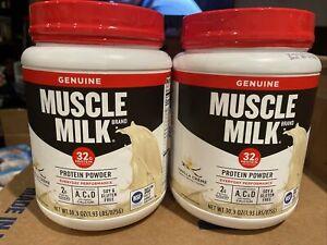 2 Muscle Milk Genuine Series Protein Powder Vanilla Creme 30.9 oz