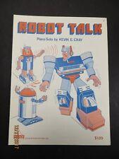 Robot Talk Schaum Piano Sheet Music 1986 Kevin Cray Vintage