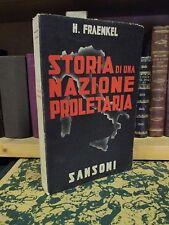 Fraenkel - Storia di una nazione proletaria - Sansoni 1938 Politica finanziaria