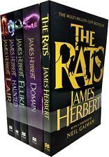 James Herbert Collection 5 Books Set Pack The Rats, Hunted, Fluke, Domain, Liar