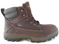 """Wolverine W08704 Men's 6"""" Waterproof Soft Toe Brown Men's Work Boots Size 8"""