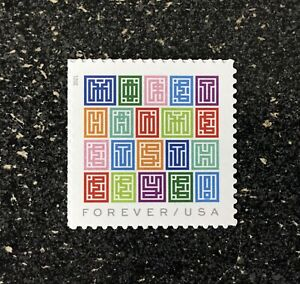 2021USA #???? Forever Mystery Message Single Stamp  mint
