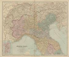 ITALIA settentrionale. W / O TRIESTE TIROLO. PIEMONTE LOMBARDIA VENETO & C. Stanford 1896 mappa