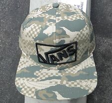 Vans Stamp Camo Army Logo Mens Skate Co. Snapback Hat One size