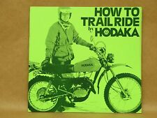 Vtg 1977 Hodaka Motorcycle How To Trail Ride Factory Literature Book Manual
